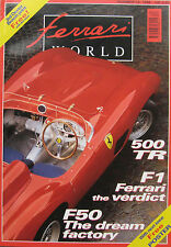 Ferrari World magazine Issue 34 August/September 1996 500 Testa Rossa, F50