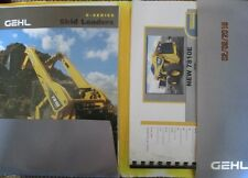 GEHL 7810E 4640E TURBO 4840E 5640E 6640E SERIES DEALER SALES FOLDER BROCHURE