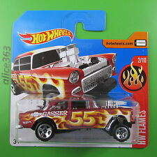 HOT WHEELS 2017  - ´55 Chevy Bel Air Gasser -  HW Flames  -  12  - neu in OVP