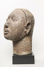 Benin Royal Ife Head Figure, Nigeria, African Tribal Arts, Sculpture
