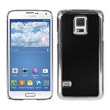 kwmobile Schutz Hülle für Samsung Galaxy S5 Mini Schwarz Aluminium Case Cover