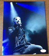 """Corey Taylor Slipknot REAL hand SIGNED 8x10"""" Photo JSA COA RARE"""