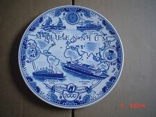 Superb Delft Hanging Wall Plate MILLENNIUM HOLLAND AMERICA 2000