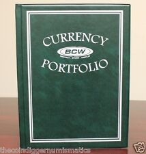 ONE + BCW Currency Banknote Portfolio Album 3 Pocket (GREEN)