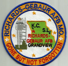 USAF BASE PATCH, RICHARDS-GEBAUR AFB CONTROL TOWER, GONE BUT NOT FORGOTTEN  Y