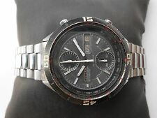 Very Rare Vintage SS Black Dial Citizen Chronograph Automatic Mens WristWatch