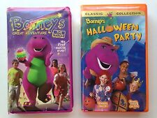 Barney's Great Adventure: The Movie - Halloween Party VHS Lot Clamshell Case