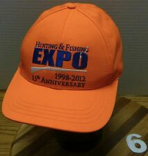 WYOMING HUNTING & FISHING EXPO 15TH ANNIVERSARY HAT 1998-2012 EXCELLENT COND