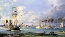 John Stobart Print - Detroit: A View of the City from the Canadian Shore c. 1838