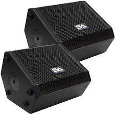 Pair of Compact 10 Inch 2-Way Coaxial Floor / Stage Monitors with Titanium Horns