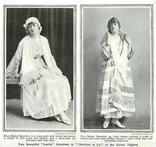 WW1 Miss Madge Saunders Wearing Two Beautiful Lucille Creations Theodore And Co