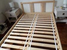 double bed timber Ikea