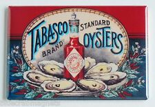 Tabasco Oysters FRIDGE MAGNET (2.5 x 3.5 inches) hot sauce label bottle seafood