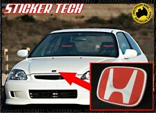 HONDA CIVIC EK EK9 TYPE R RED AND CHROME GEL H JDM GRILL BADGE STICKER DECAL
