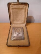 ANTIQUE SILVER 800 CIGARRETTE CASE. IN ITS ORIGINAL BOX
