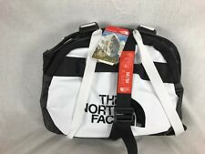 NEW NORTH FACE BASE CAMP DUFFLE BLACK WHITE MEDIUM M TRAVEL CARRY ON BAG CASE