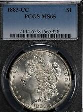 Beautiful 1883-CC Morgan Dollar - PCGS MS65!!