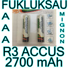 4 x PILES AAA | PILES ACCUS RECHARGEABLE MIGNON 2700mAh Ni-MH 1,2V R3 LR03 NEW