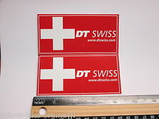 "TWO 3.5"" DT SWISS Rim Hub (Dirt RIDE BMX DH MX MTB Frame Bike DECAL STICKER rbz"
