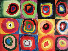 KANDINSKY - GENUINE OIL PAINTING (after) INVEST $ in Wassilly Kandinsky RARE ART