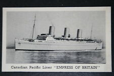 EMPRESS OF BRITAIN  Canadian Pacific Liner  # 1930's Vintage Photo Card