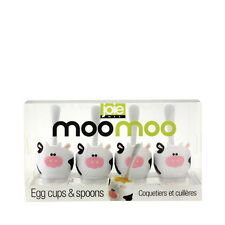 Joie Moo Moo Novelty Egg Cup and Spoon Set of 4