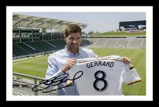 STEVEN GERRARD - LA GALAXY AUTOGRAPHED SIGNED & FRAMED PP POSTER PHOTO