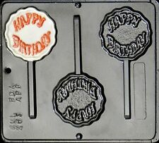 Happy Birthday Lollipop Chocolate Candy Mold  263 NEW