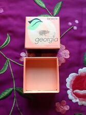 "BNIB - Genuine Georgia by Benefit - a ""just peachy"" face powder - With  brush"
