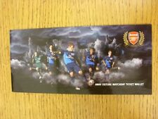2010/2011 Arsenal: Away Fixture Matchday Ticket Wallet (Empty). This item has be