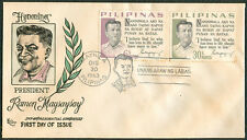 1963 Philippines HONORING PRESIDENT RAMON MAGSAYSAY First Day Cover - D
