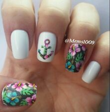 Anchor Nail wraps (water decals) Flower and Anchor Nail Decals