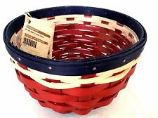 AMERICANA Ware BASKET & Protector Longaberger RED WHITE BLUE new Made in USA