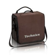 Technics DJ Record Bag Ruck Sack 50 vinyl LP Brown / White Logo SL1200 SL1210