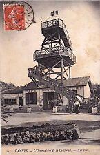 CANNES 207 l'observatoire de la californie café restaurant timbrée 1911