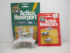 Back to The Future Texaco Micro Hoverport+2 Micro Hovercars-Police Car- Delorean