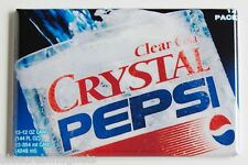 Crystal Pepsi FRIDGE MAGNET (2 x 3 inches) soda glass sign clear pop cola 90's