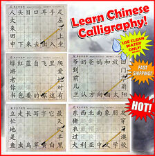 Chinese Calligraphy LEARN Reusable Writing Magic Cloth Brush included new