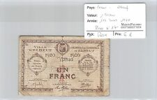 BILLET DE NÉCESSITÉ - FRANCE - ELBEUF - 1 FRANC - 1er MARS 1920 - RARE