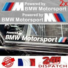 2x Sticker POWERED BY BMW MOTORSPORT 20x3cm BLANC2x Sticker POWERED BY BMW MOTOR