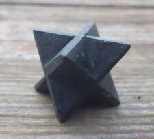 NATURAL BLACK TOURMALINE GEMSTONE MERKABA STAR (ONE) - BUY IT NOW