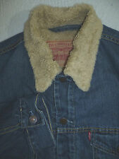 LEVI'S 71500 SHERPA LINED DENIM JACKET MEDIUM STRAUSS MEDIUM BLUE LJKTA029