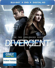 Divergent (Blu-ray/DVD, 2014, Includes Digital Copy Steelbook Only  Best Buy)