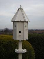 """TITCOTE DOVECOTE STYLE BIRD HOUSE/BIRD BOX (HAND MADE )  """" + FREE FEEDING TRAY"""""""