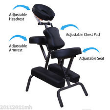 "3"" Padding Portable Massage Chair Beauty Tattoo Facial Spa Health Black+Free Bag"