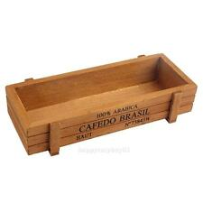 Wooden Gardening Flower Bed Planter Succulent Rectangle Plant Storage Box Pot