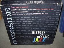 RIVERSIDE history of classic jazz ( jazz ) 5lp box set - booklet -