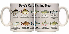 CARP SPECIES FISHING PERSONALISED MUG WITH NAME (SP11) OTHER MUGS AVAILABLE