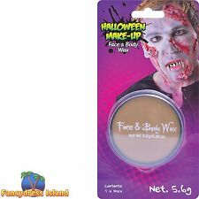 HALLOWEEN FACE AND BODY SKIN WAX Fancy Dress Stage FX Make Up Accessory