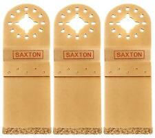 3 Saxton 35mm Carbide End Cut Blade Fein Multimaster Bosch Oscillating Multitool
